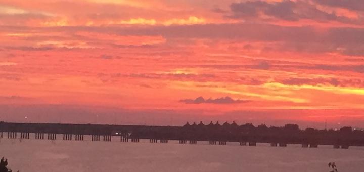 Sunrise over Lake Ray Hubbard (photo by Nancy Ward)