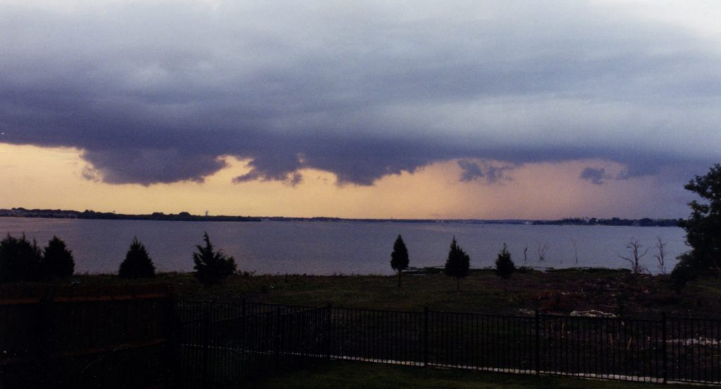 Sunrise Storm on Lake Ray Hubbard (photo by Nancy Ward)
