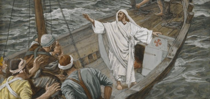 Jesus Stilling the Tempest by James Tissot (WikiCommons)